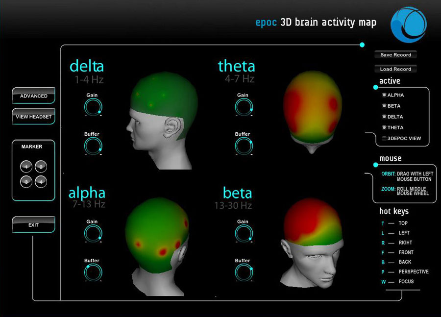 Image showing an example of brain research visualization software