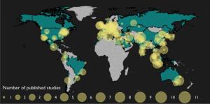 map of EMOTIV EPOC global projects